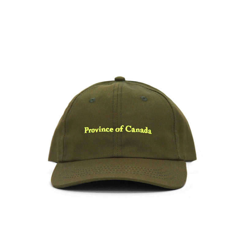 Province of Canada - Cotton Baseball Hat Kids Olive - Made in Canada