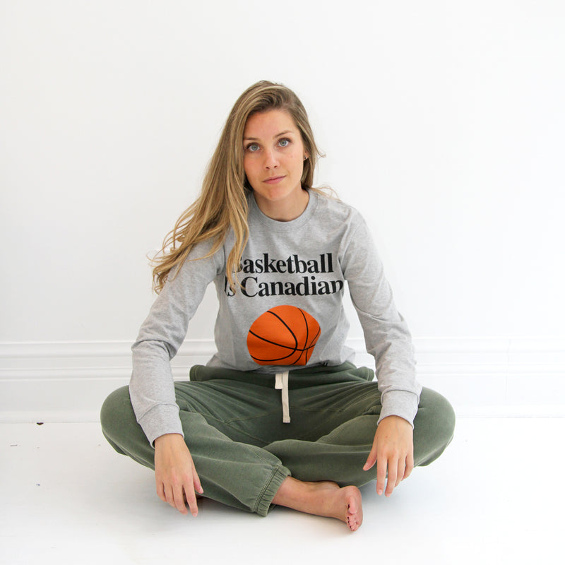 Basketball Is Canadian Long Sleeve Tee - Province of Canada
