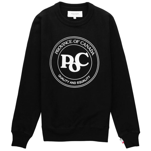 Province of Canada - PoC Crewneck Black - Made in Canada