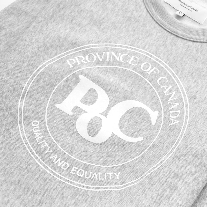Province of Canada - PoC Crewneck Silver - Made in Canada