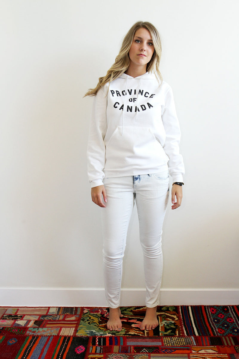 Province of Canada White Hoodie Made in Canada