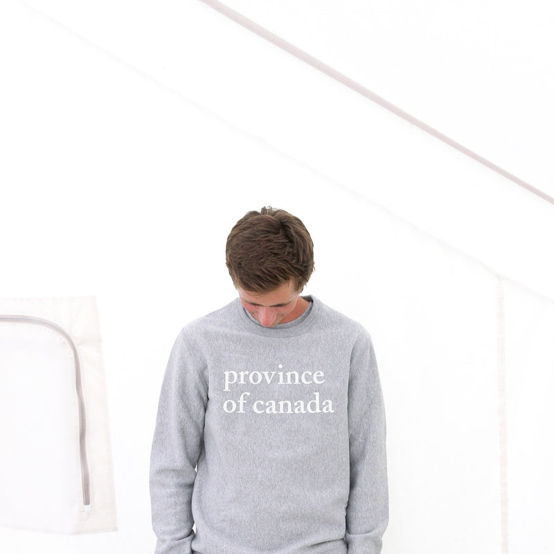 Province of Canada - Made in Canada - Lowercase Crewneck