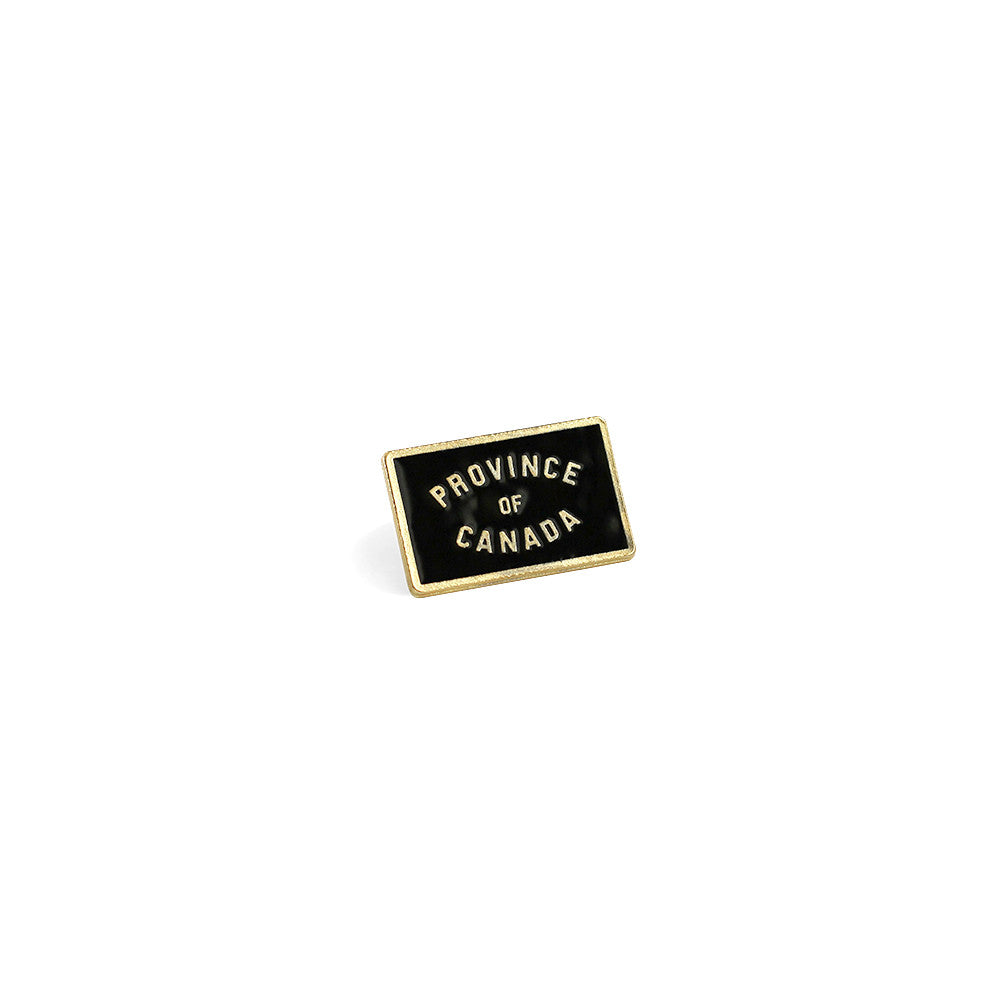 Province of Canada Black + Gold Pin