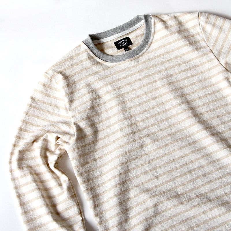 Province of Canada - Stripe Lightweight Crewneck Camel - Made in Canada