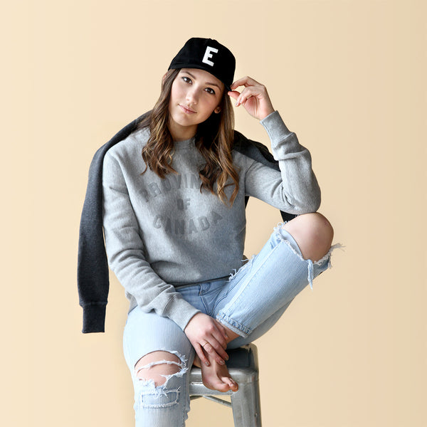 Province Crewneck Sweater Heather Grey and Grey - Unisex