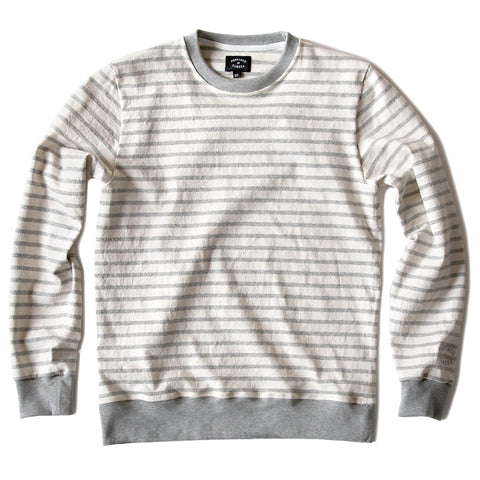 Province of Canada - Stripe Lightweight Crewneck Heather Grey - Made in Canada