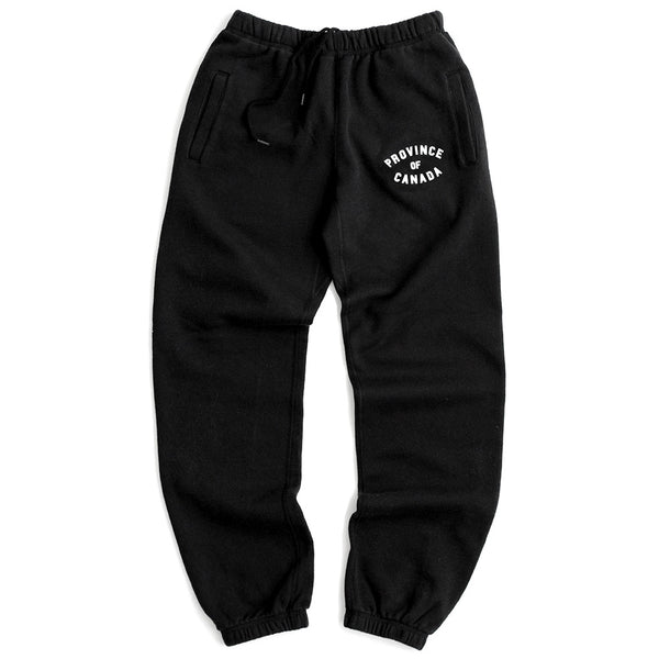Province of Canada Black Sweatpants Made in Canada