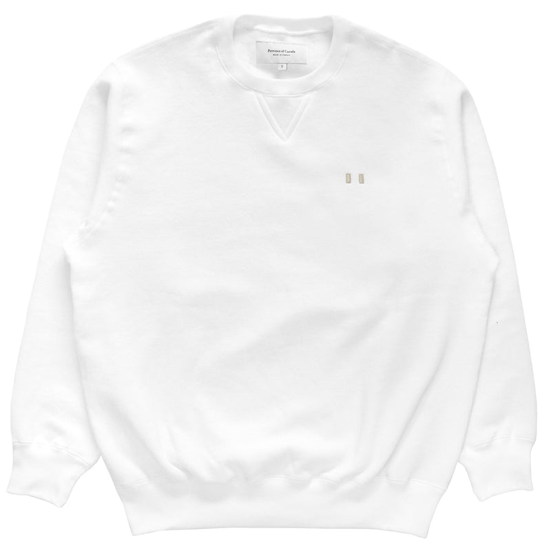 Province of Canada - Lounge Fleece Sweatshirt White - Made in Canada