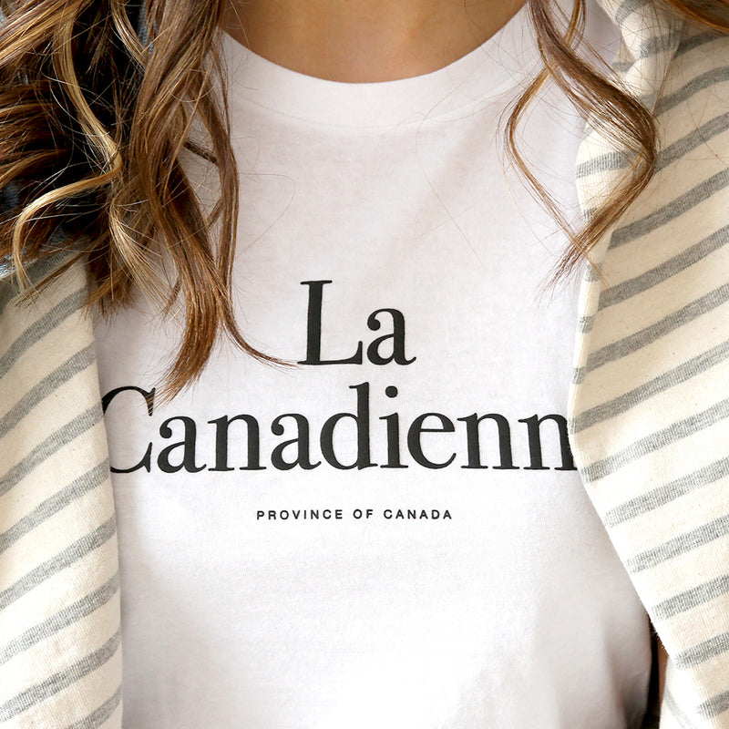 Province of Canada - La Canadienne White T-Shirt  - Made in Canada
