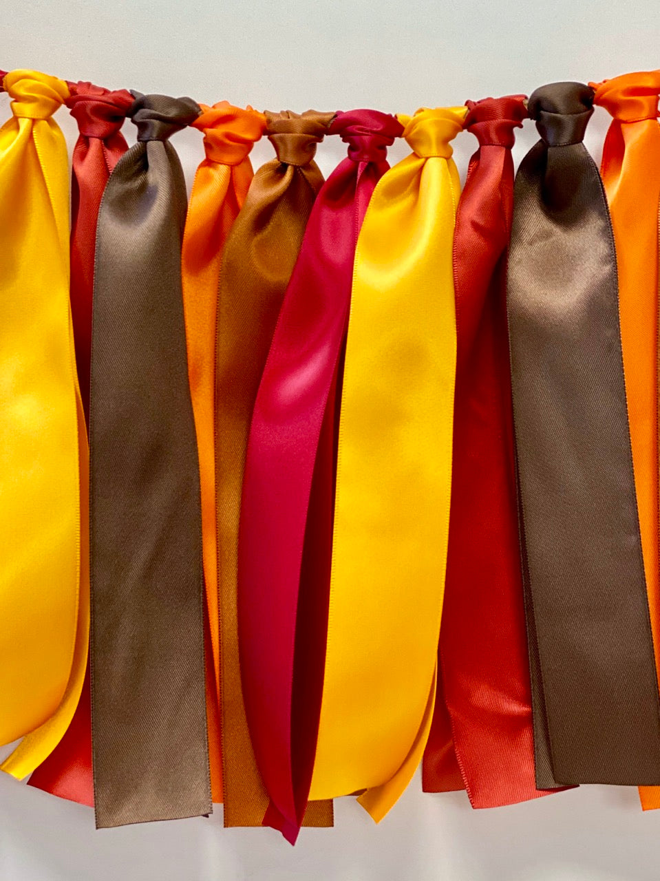 Autumn Thanksgiving Ribbon Bunting - FREE Shipping