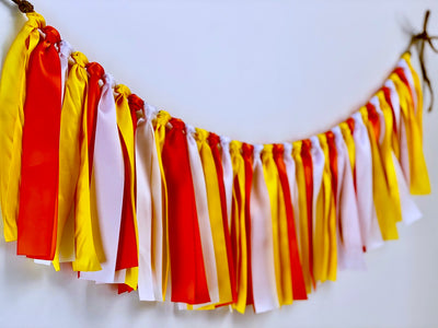 Candy Corn Ribbon Bunting - FREE Shipping