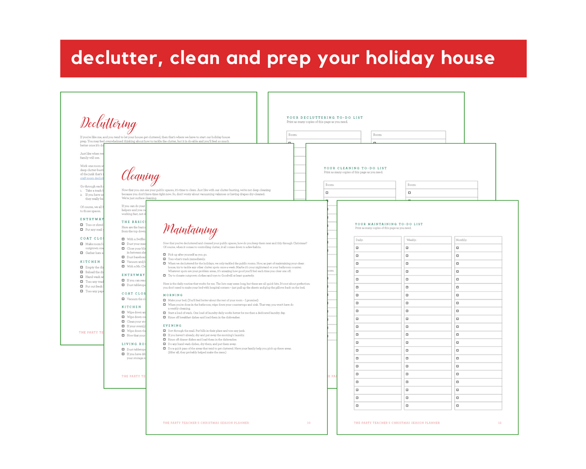 Christmas Season Planner INSTANT DOWNLOAD