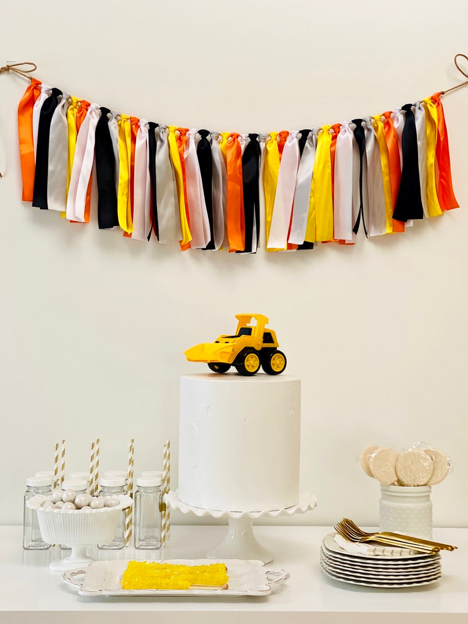 Construction Ribbon Bunting - FREE Shipping