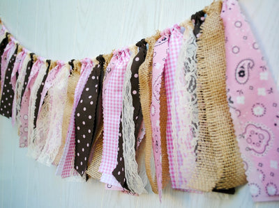 Cowgirl Fabric Bunting - FREE Shipping