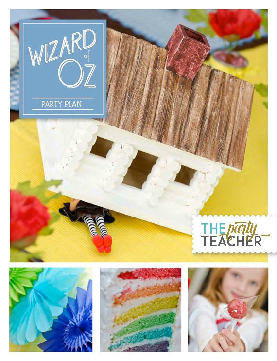 Wizard of Oz Party Plan INSTANT DOWNLOAD
