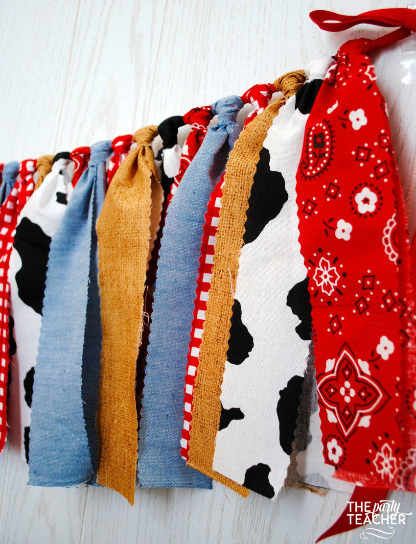 Farm Fabric Bunting - FREE Shipping