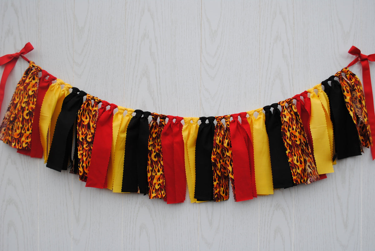 Firefighter Fabric Bunting - FREE Shipping