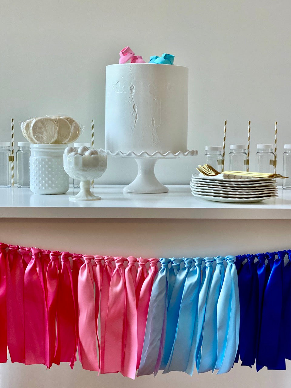 Gender Reveal Ribbon Bunting - FREE Shipping