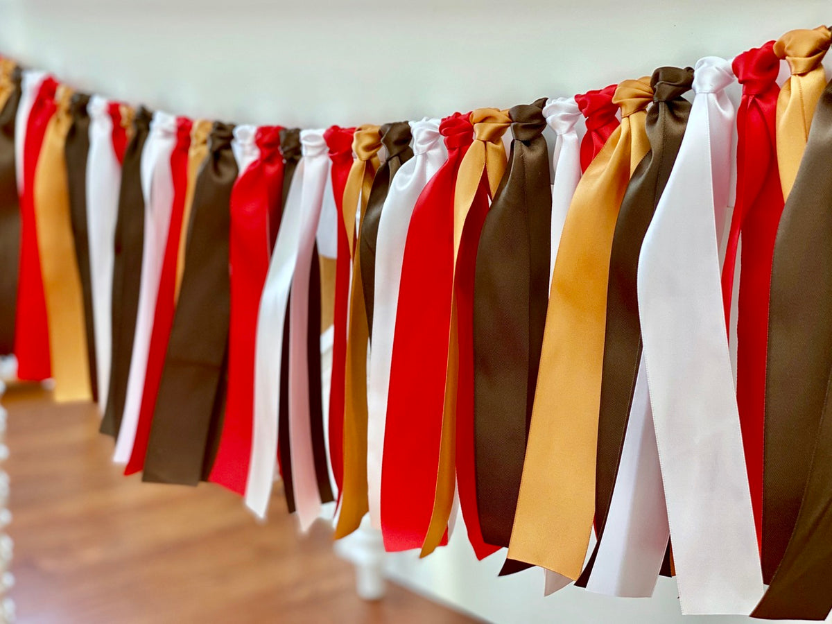Gingerbread Ribbon Bunting - FREE Shipping