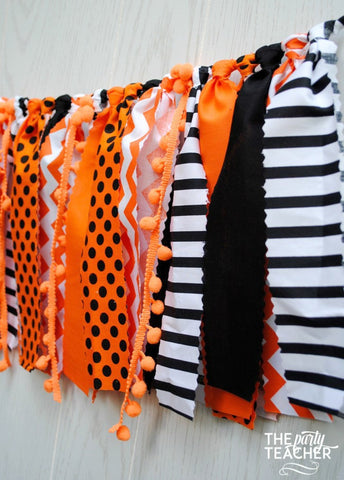 Halloween Fabric Tie Garland - FREE Shipping