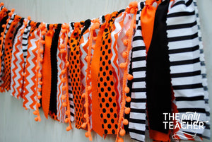 Halloween Fabric Bunting - FREE Shipping