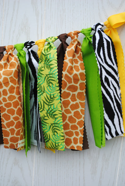 Jungle Safari Fabric Bunting - FREE Shipping