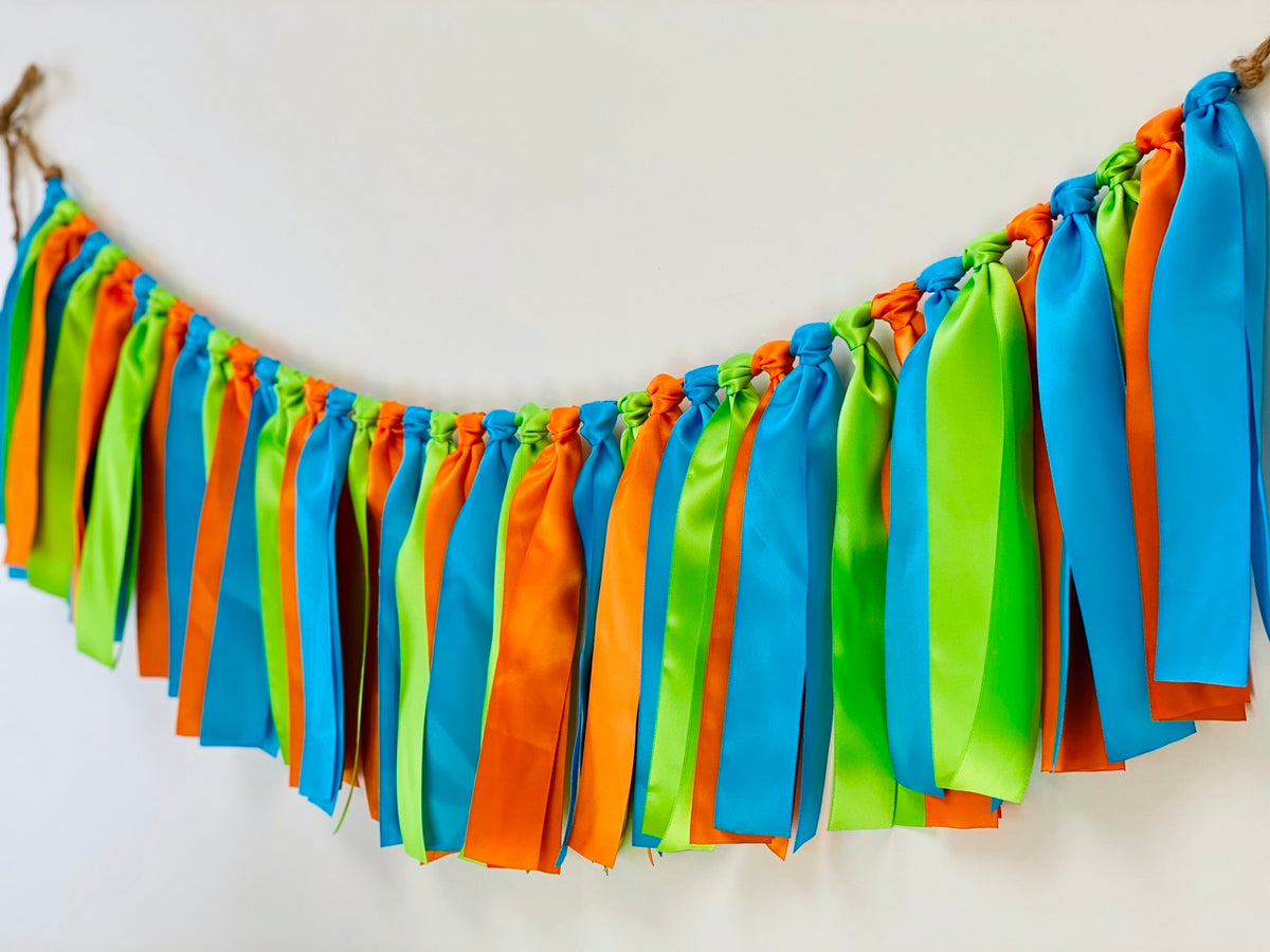 Little Monster Ribbon Bunting - FREE Shipping