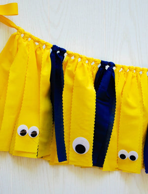 Minions Fabric Bunting - FREE Shipping