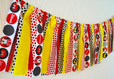 Minnie Mouse Fabric Bunting - FREE Shipping