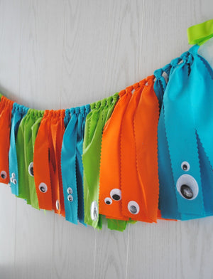 Monster Fabric Bunting - FREE Shipping