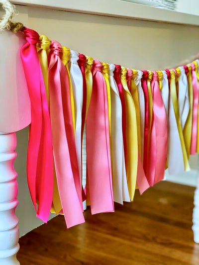 Pink Lemonade Ribbon Bunting - FREE Shipping