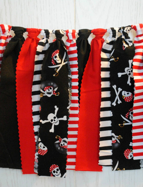 Pirate Party Fabric Bunting - FREE Shipping