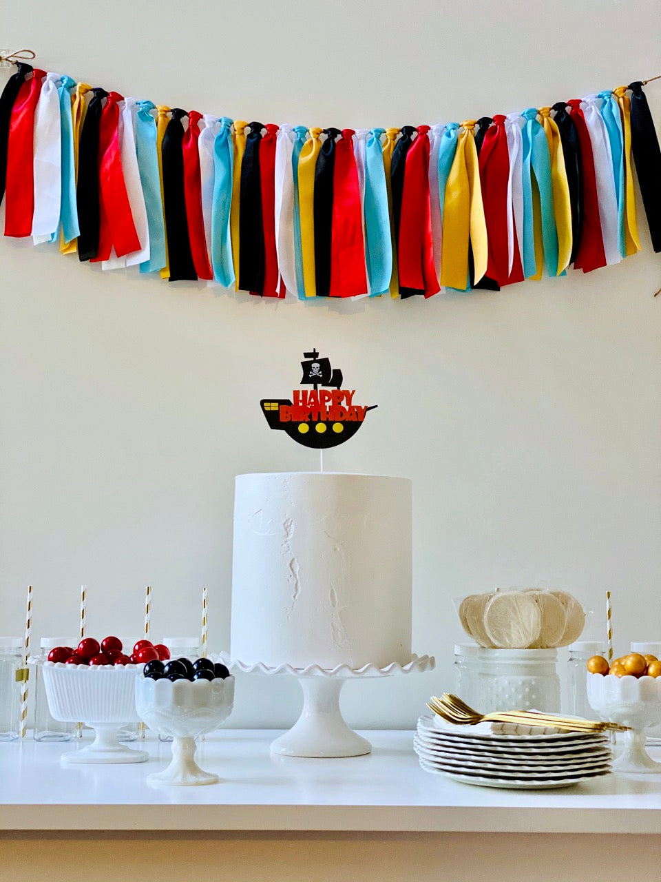 Pirate Ribbon Bunting - FREE Shipping
