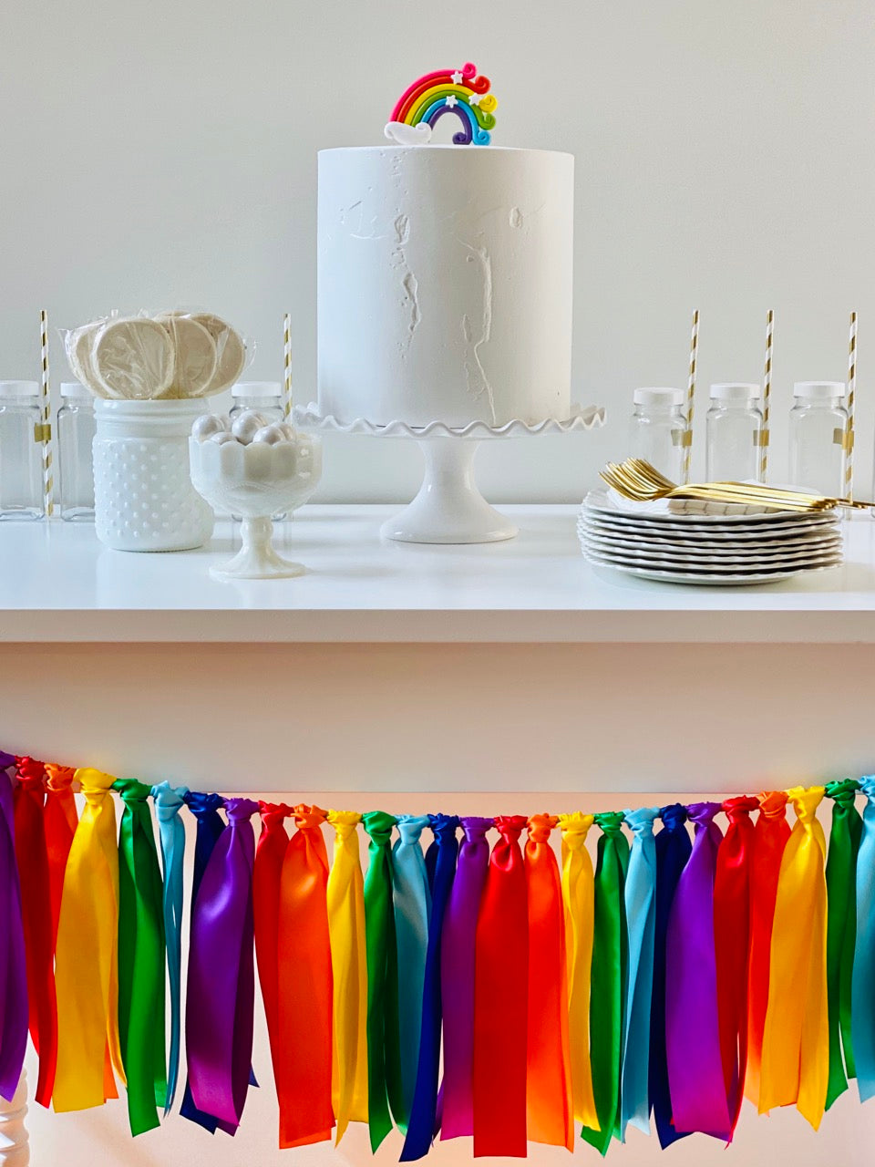 Rainbow Ribbon Bunting - FREE Shipping