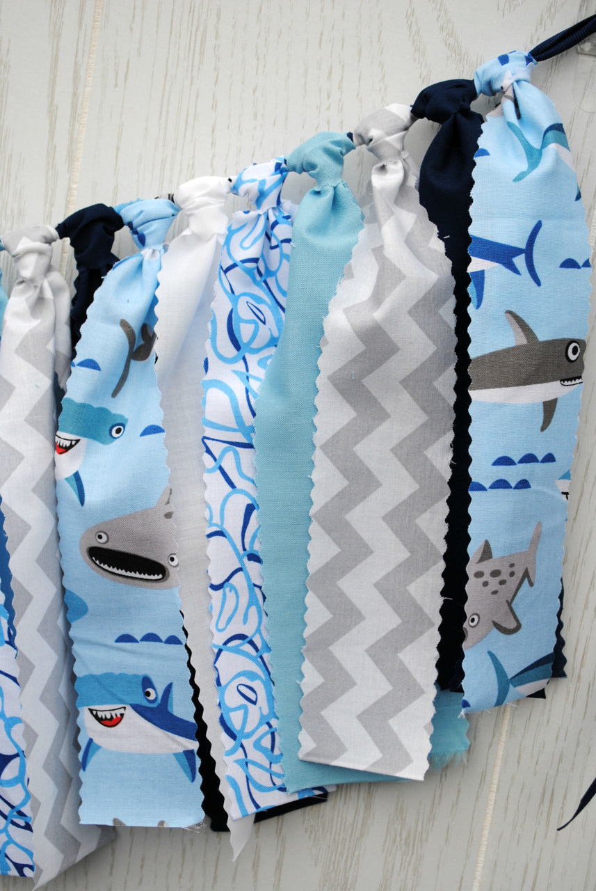 Shark Fabric Bunting - FREE Shipping