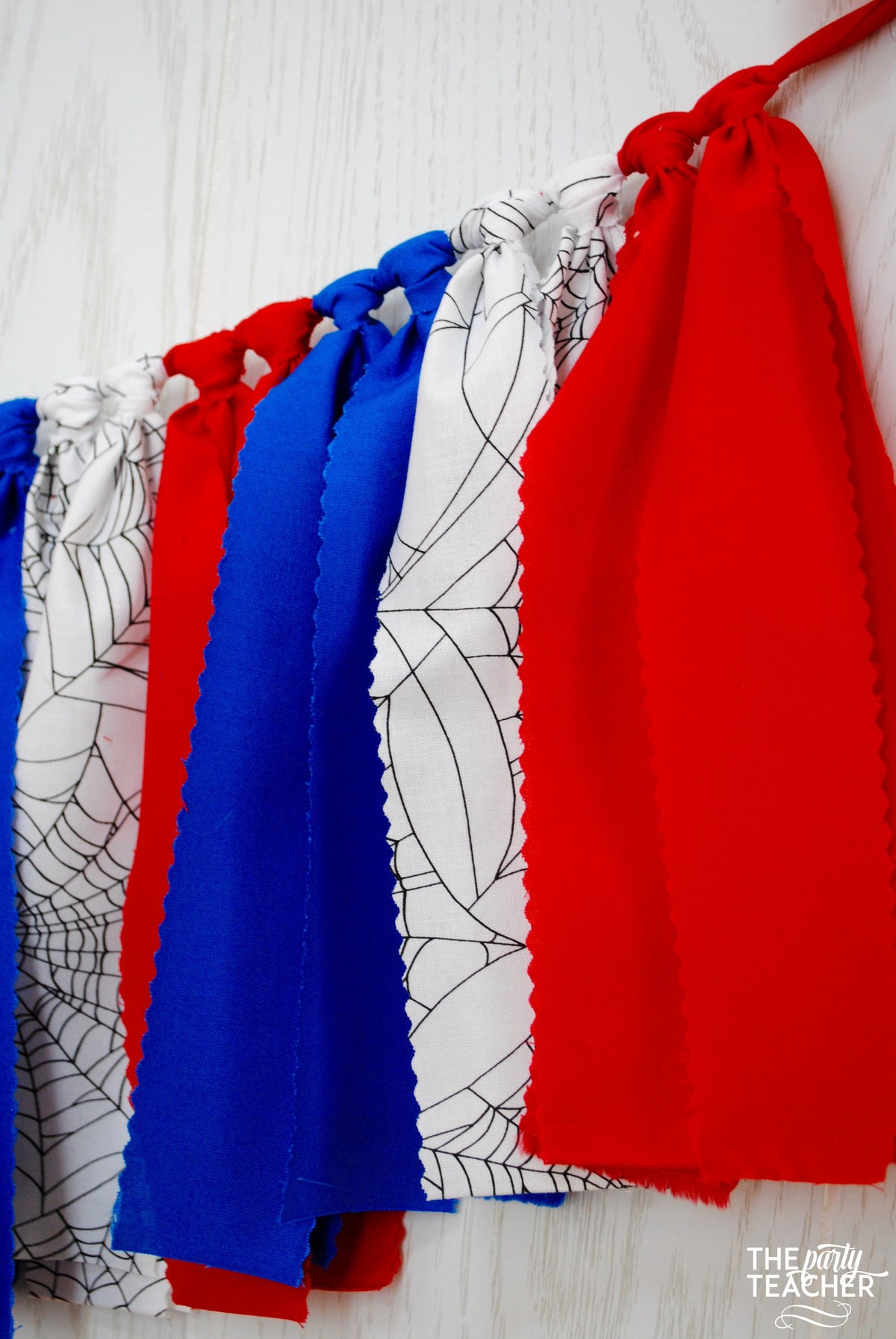 Spider-Man Fabric Bunting - FREE Shipping