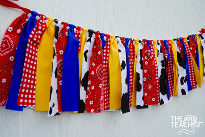 Toy Story Woody Fabric Bunting - FREE Shipping