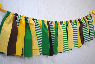 Tractor Fabric Bunting - FREE Shipping