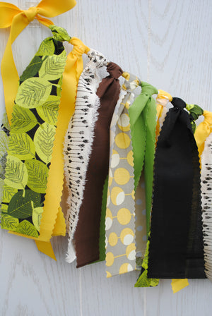 Wild One Fabric Bunting - FREE Shipping