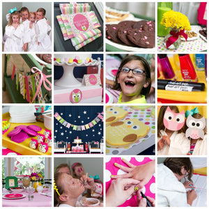 Night Owl Sleepover Party Plan INSTANT DOWNLOAD