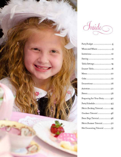 Vintage Tea Party Plan INSTANT DOWNLOAD