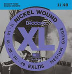 D'Addario EXL115 Nickel Wound Electric Guitar Strings, Medium/Blues-Jazz Rock, 11-49 - Texas Tour Gear
