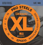 D'Addario EPS510 ProSteels Electric Guitar Strings, Regular Light, 10-46 - Texas Tour Gear