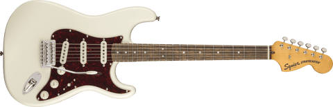 Squier Classic Vibe '70s Stratocaster®, Laurel Fingerboard, Olympic White - Texas Tour Gear