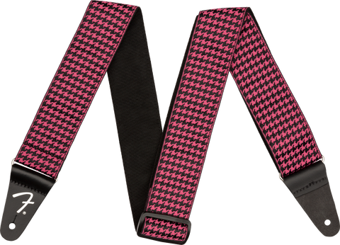 Houndstooth Strap, Pink
