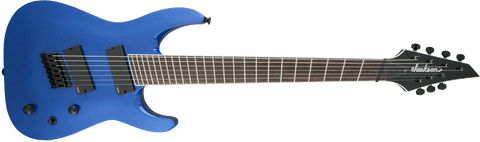 Jackson X Series Soloist™ Arch Top SLAT7 MS, Laurel Fingerboard, Multi-Scale, Metallic Blue - Texas Tour Gear