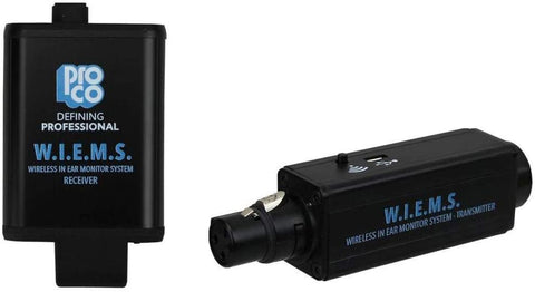 Pro Co Sound W.I.E.M.S. Wireless in-Ear Monitoring System (5.8 GHz) - Texas Tour Gear