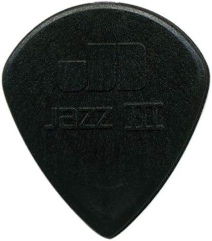 Dunlop Jazz III Pick, Black Stiffo, 1.38mm, 6 Pack - Texas Tour Gear