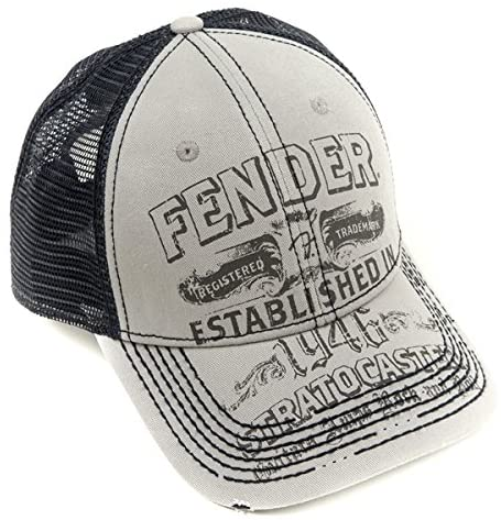 Fender Strat Trucker Hat, Grey - Texas Tour Gear