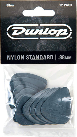 Dunlop Nylon Standard Guitar Pick .88 mm, 12 Pack - Texas Tour Gear